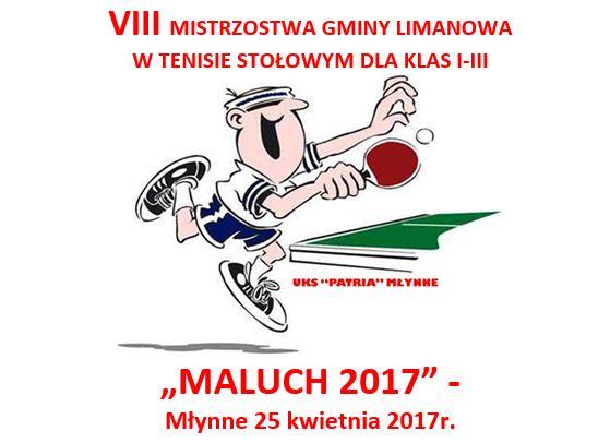 """Trwają zapisy na Turniej Tenisa Stołowego """"Maluch 2017"""" - zdjęcie główne"""