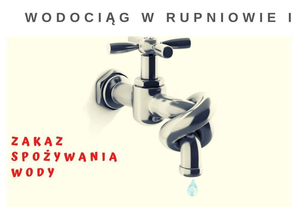 Zakaz użytkowania wody z wodociągu w Rupniowie - zdjęcie główne