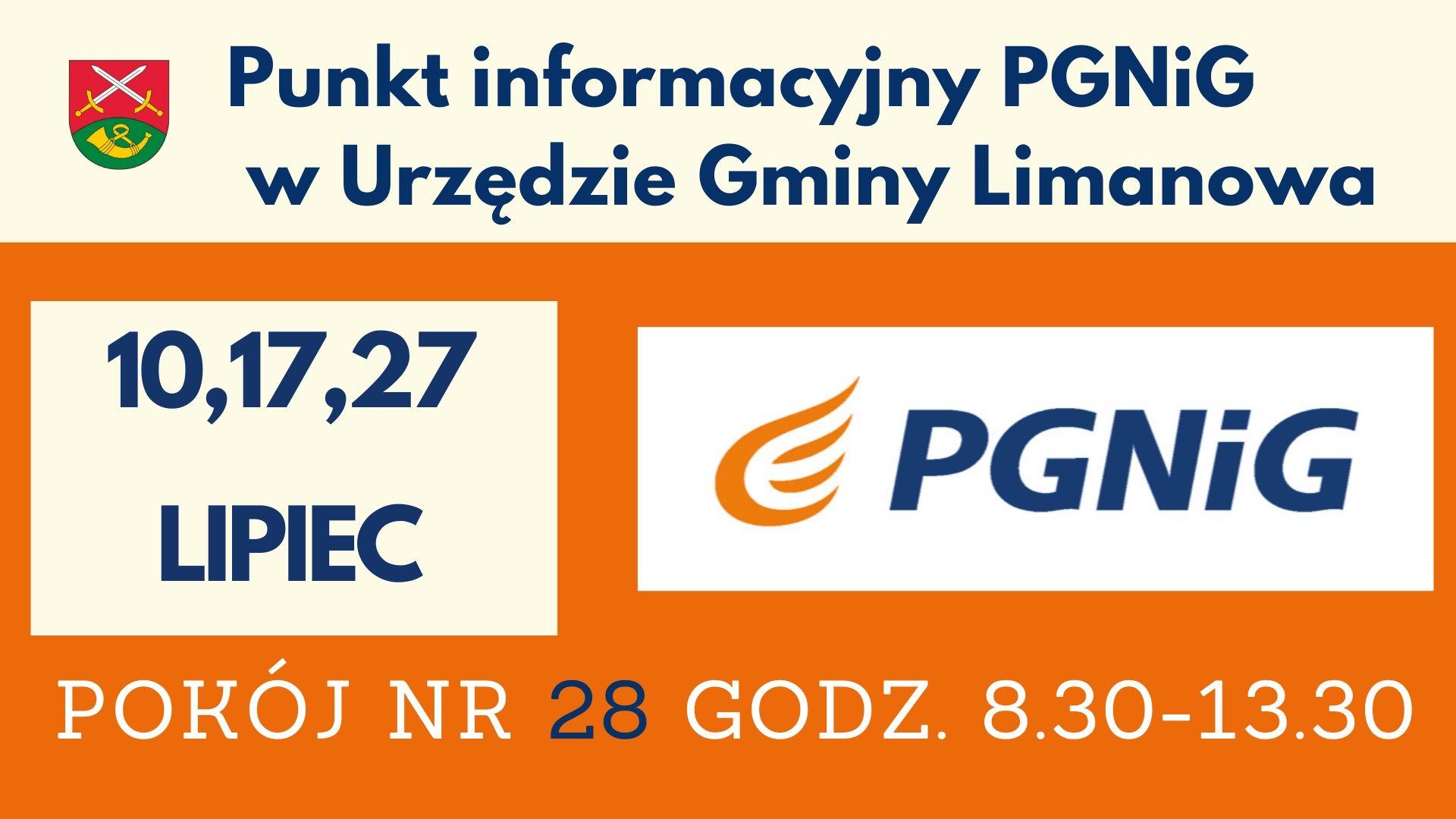 Lipcowe terminy dyżurów doradcy PGNiG w Urzędzie Gminy Limanowa - zdjęcie główne