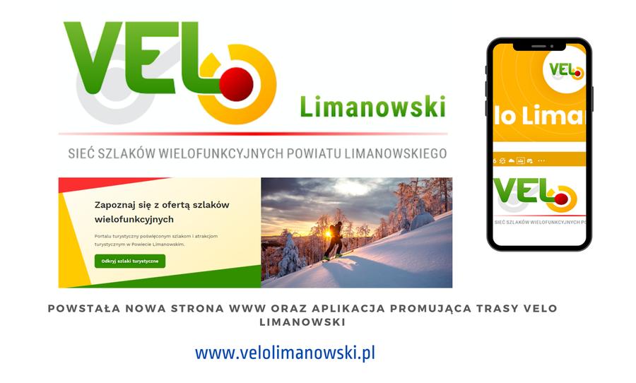Strona internetowa oraz aplikacja promująca trasę VELO Limanowski - zdjęcie główne