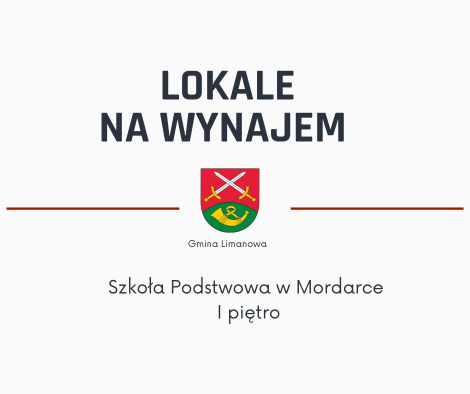 Gmina Limanowa oferuje lokal na wynajem - budynek Szkoły Podstawowej w Mordarce - zdjęcie główne