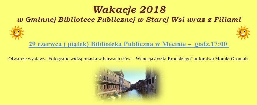 Wakacje 2018 w gminnych bibliotekach publicznych - zdjęcie główne