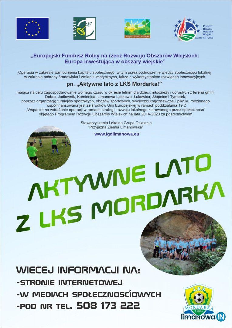 """LKS """"Mordarka"""" z dotacją na projekt pn. """"Aktywne lato z LKS Mordarka!"""" - zdjęcie główne"""